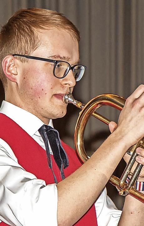 Solist Ronny Kunzelmann am Flügelhorn.  | Foto: Wilfried Dieckmann