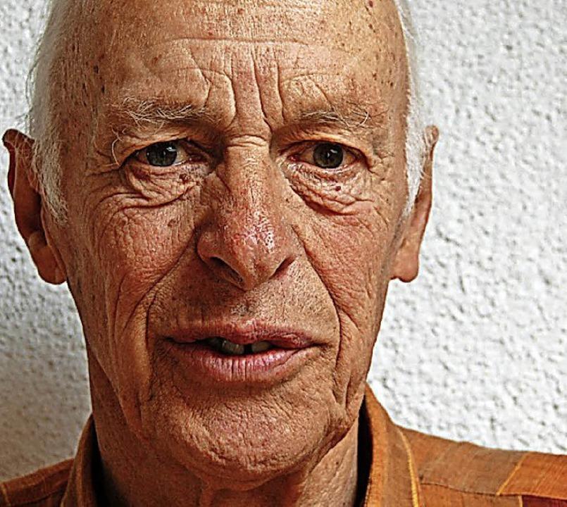 Landwirt Wilhelm Zeller (2012)     Foto: Hagen Späth