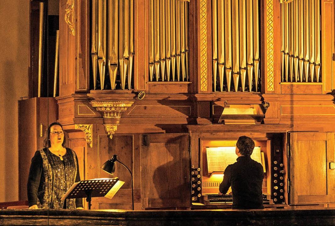 Allmannsweirer Abendmusik mit Viola de...czy (Gesang) und  Martin Groß (Orgel)   | Foto: Olaf Michel