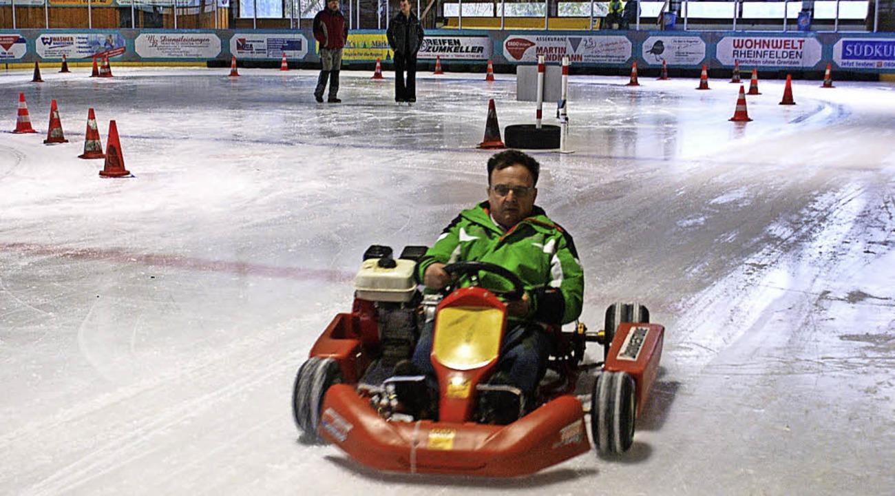 Auch der Vorsitzende des Automobilclub...artete und kam auf den dritten Platz.     Foto: Werner probst
