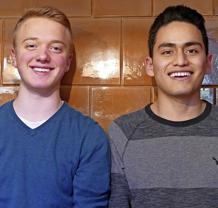 Haben gut lachen: Tylor Richardson (links) und   Luis Lopez   | Foto: Viola Vetter