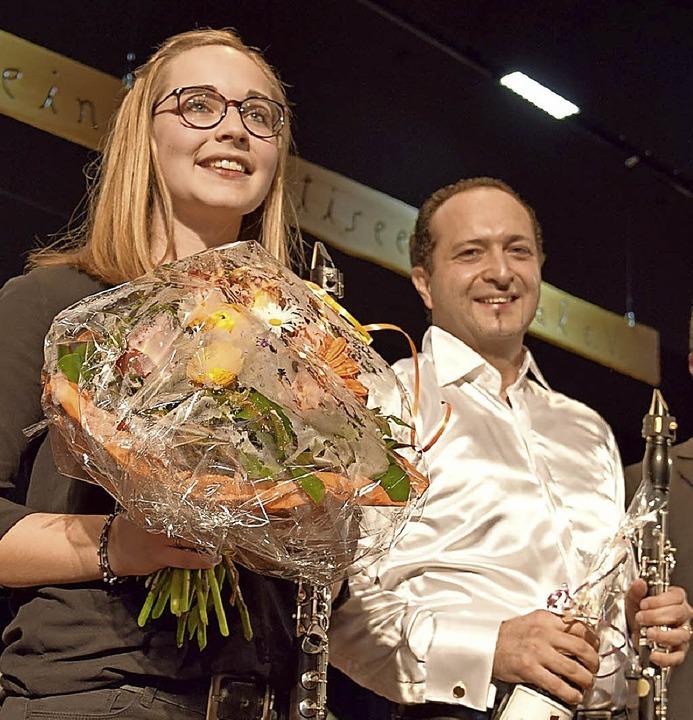 Katja Beha und Guiseppe Porgo glänzten mit einem Klarinettensolo in Il Convegno.    Foto: Volker Rothfuß