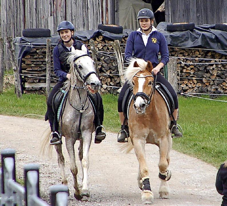 Die Ponyreiterinnen holten dieses Mal nur den letzten Platz.    Foto: Petra Wunderle