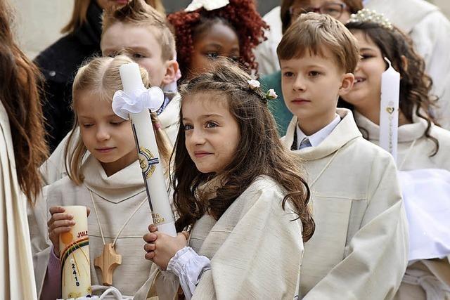 Schon am Ostermontag gab's in Freiburg die erste Erstkommunion