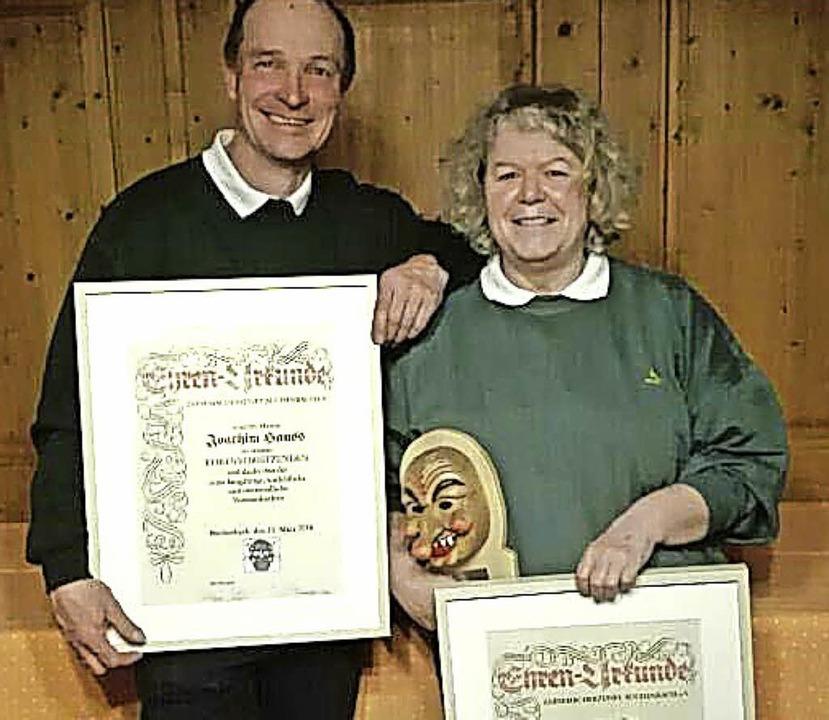 De Ehrenvorsitzenden Martina Fräßle und Joachim Hauss   | Foto: PRIVAT