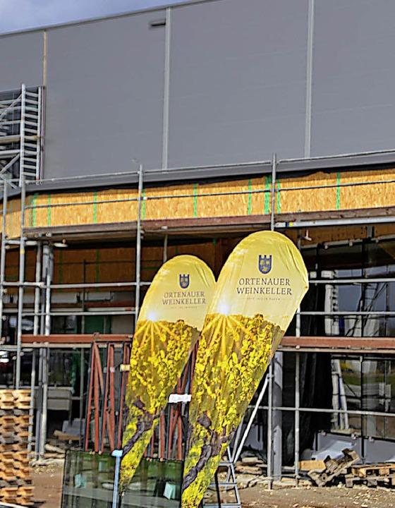 Die Bauarbeiten am neuen Weinkeller liegen in den letzten Zügen.  | Foto: hrö