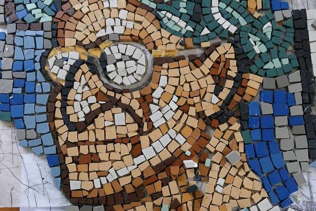 Altrömisches Mosaik auf dem Landesgartenschau war ein Aprilscherz