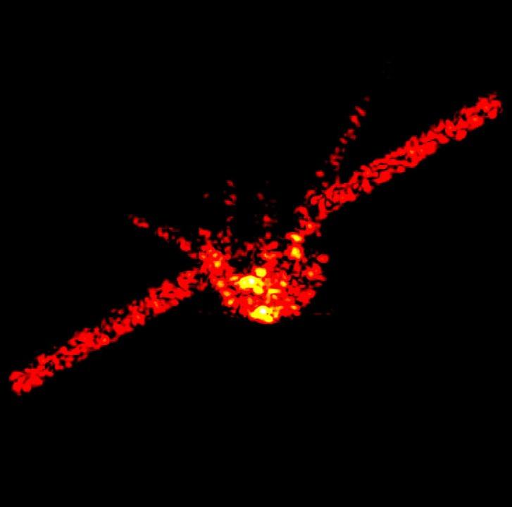 Dieses vom Fraunhofer-Institut zur Ver...es chinesischen Raumlabors Tiangong1.     Foto: dpa