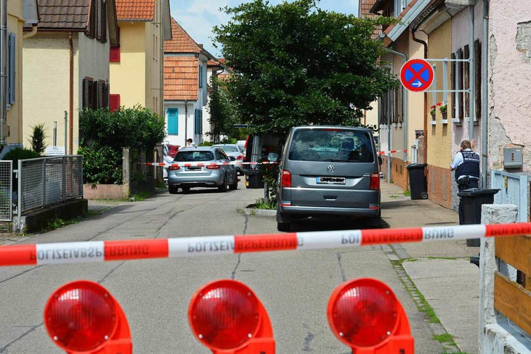 Ermittlungsarbeit am Tatort in Teningen (Archivbild)    Foto: Benedikt Sommer