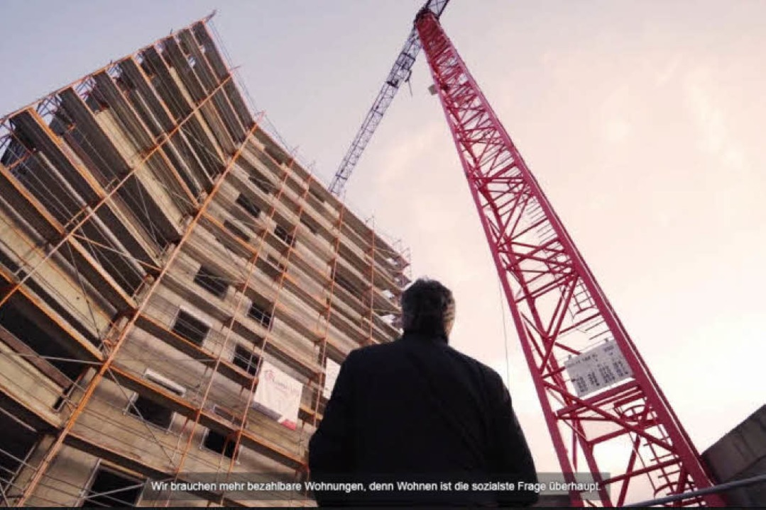 Bildstarke Optik: Das Wahlkampf-Video von OB Dieter Salomon auf Facebook.     Foto:  Screenshot