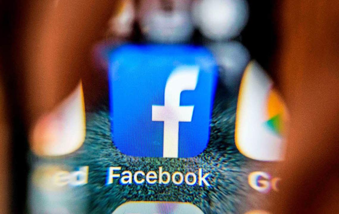 Facebook steht in der Kritik.    Foto: AFP