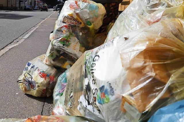 Die Gelbe-Säcke-Sammlung im Kreis Lörrach pausiert – wegen einer Pleite
