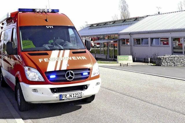 Feuerwehreinsatz wegen Rauch im Glashaus