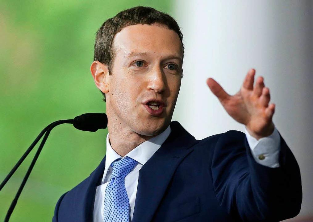 Mark Zuckerberg, Gründer und Vorstandsvorsitzender von Facebook  | Foto: dpa