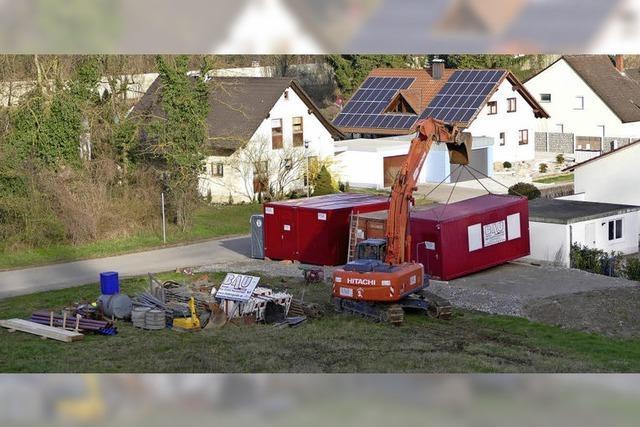Baustellenvorbereitung in Kleinkems