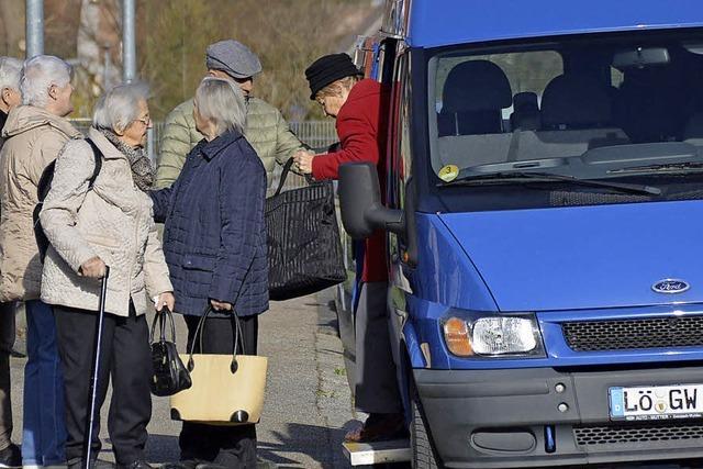 Der Einkaufsbus schließt eine Lücke