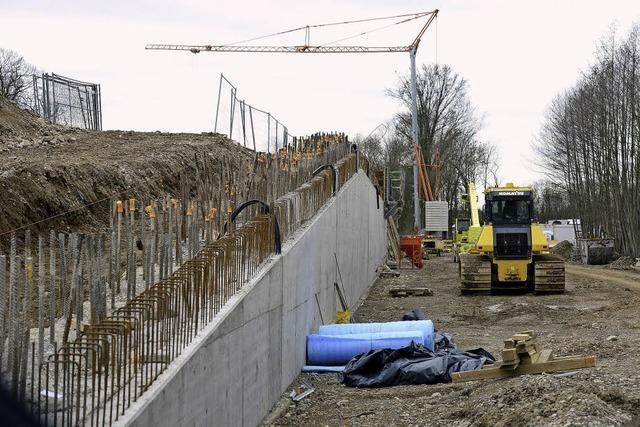 Verwunderung über Betonmauer