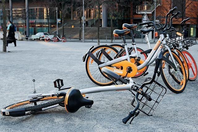 Immer mehr Ärger mit Leihfahrrädern