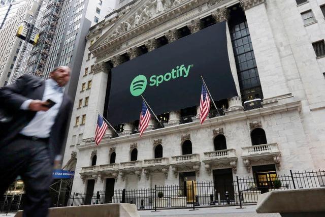 Spotify startet erfolgreich an die Börse