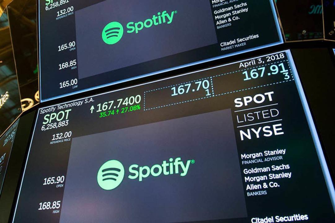 Spotifys Börsengang  | Foto: AFP