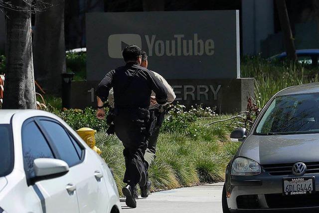 Frau schießt im Hauptquartier von Youtube um sich