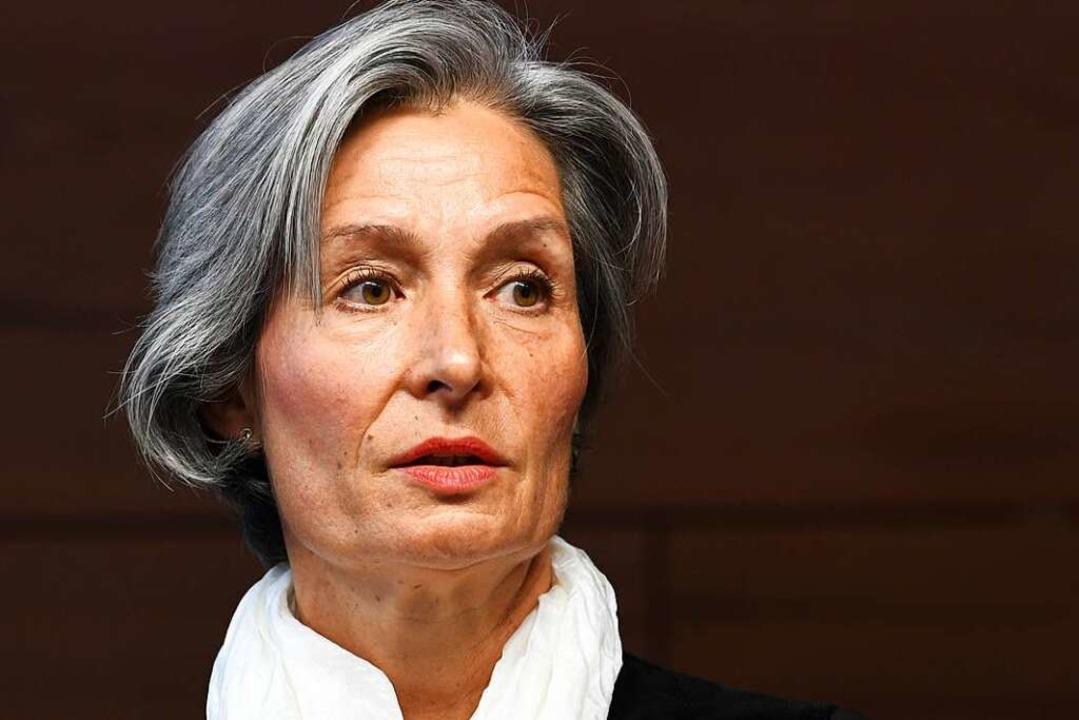 Die Vorsitzende Richterin Eva Kleine-C...ndgerichtes beim Beginn des Prozesses.  | Foto: dpa