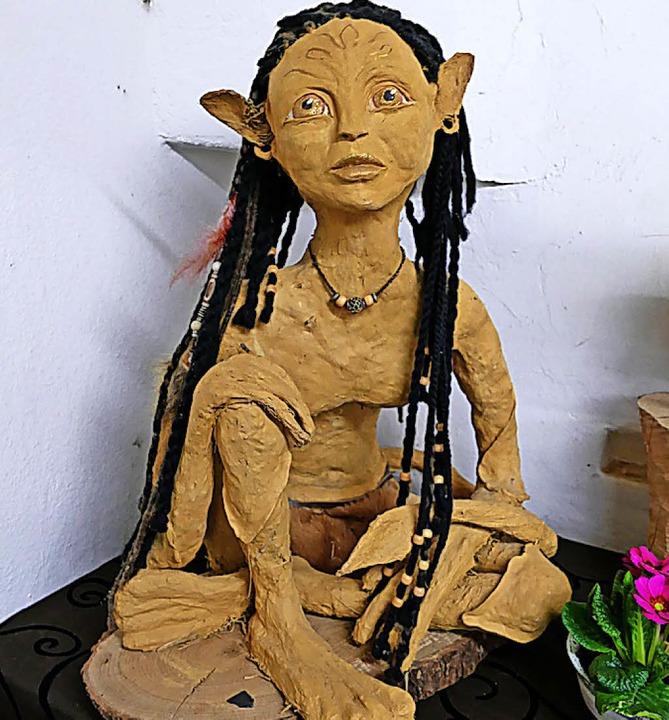 """Eine Figur aus dem Film """"Avatar"""".     Foto: Lea Rollbühler"""