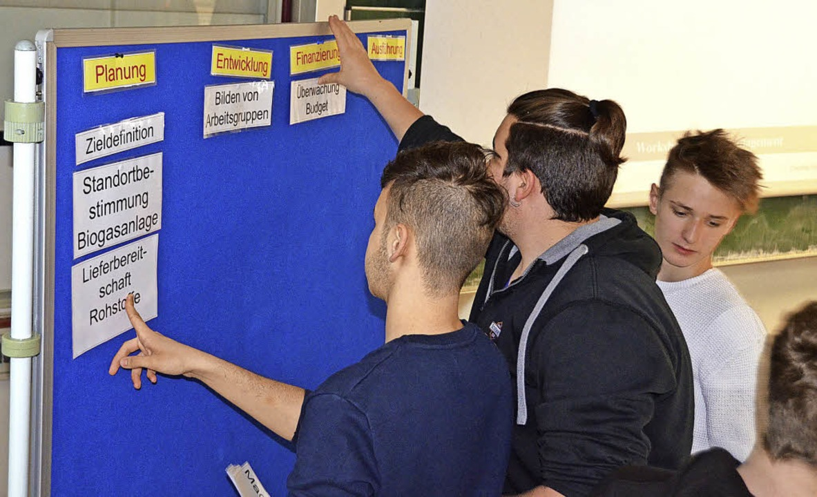 In Workshops konnten die Schüler selbst ein Projekt entwerfen.  | Foto: Sebastian Barthmes