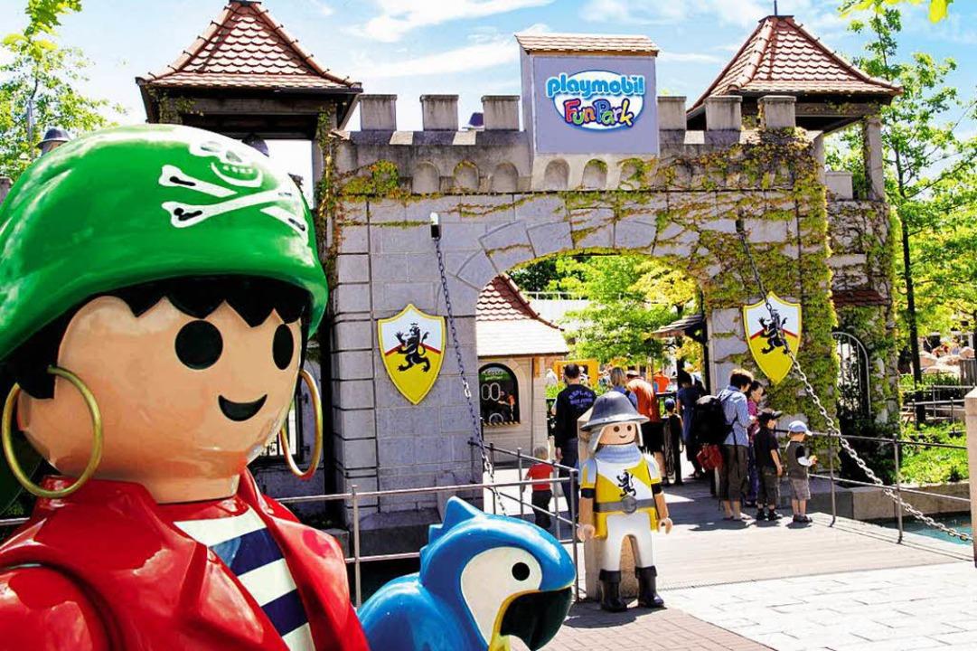Hier beginnt das Abenteuer: am Eingang zum Playmobil-Funpark  | Foto: Playmobil-Funpark/ geobra