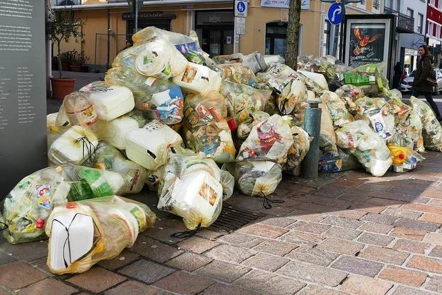 Ab Montag werden die Gelben Säcke im Kreis Lörrach wieder eingesammelt