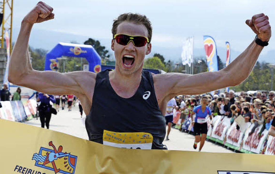 Dritter Marathon-Sieg für Lukas Naegele  | Foto: Patrick Seeger