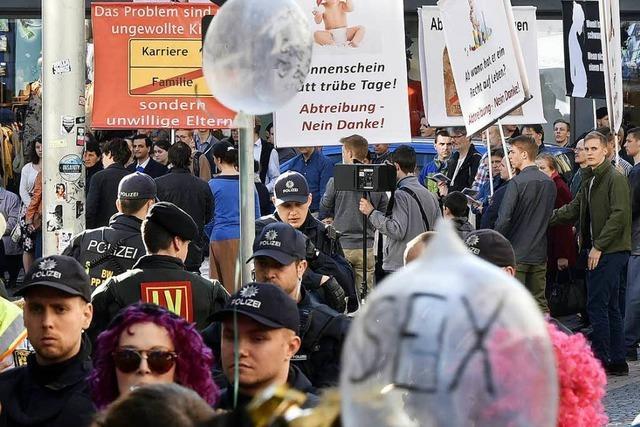 Drei Demonstrationen in der Freiburger Innenstadt