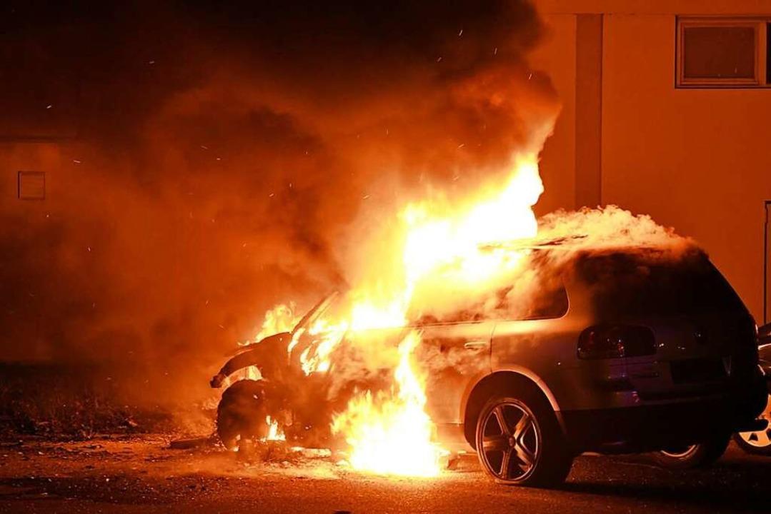 Am Donnerstag brannte in Lahr wieder ein Auto  | Foto: Wolfgang Künstle