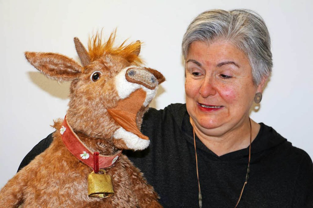 Marie Barleben mit Kuh Mathilda  | Foto: Ruth Seitz