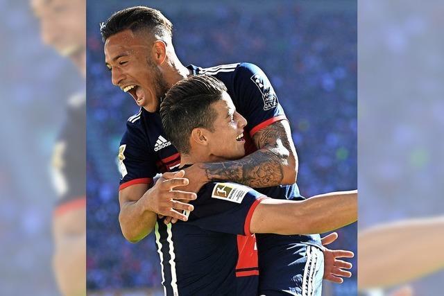 FC Bayern feiert in Augsburg