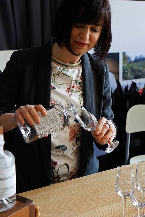 Bei Faude in Bötzingen wird auch Gin hergestellt  | Foto: Julius Wilhelm Steckmeister