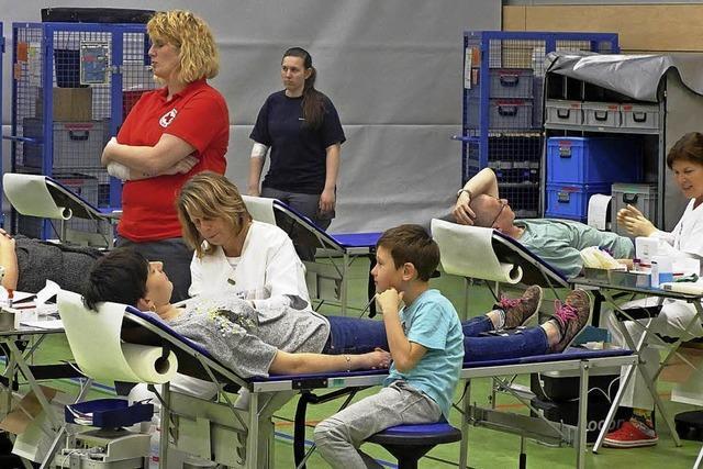 Großer Andrang beim Blutspenden