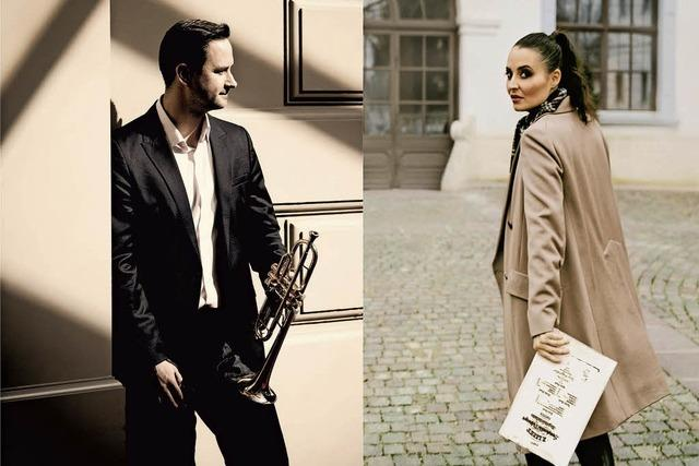 Gábor Boldoczi (Trompete) und Krisztina Fejes (Klavier)