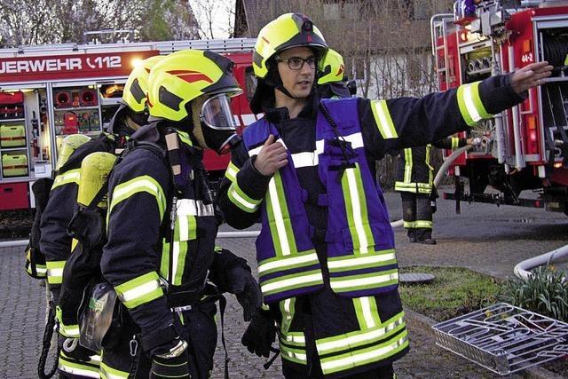 Feuerwehr übt – und begeistert David