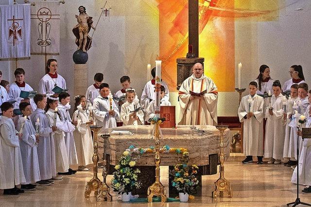 Erstkommunionsgottesdienst in St. Nikolaus Lenzkirch