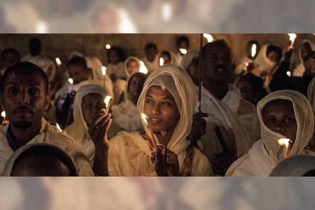Orthodoxe Christen feiern in Jerusalem