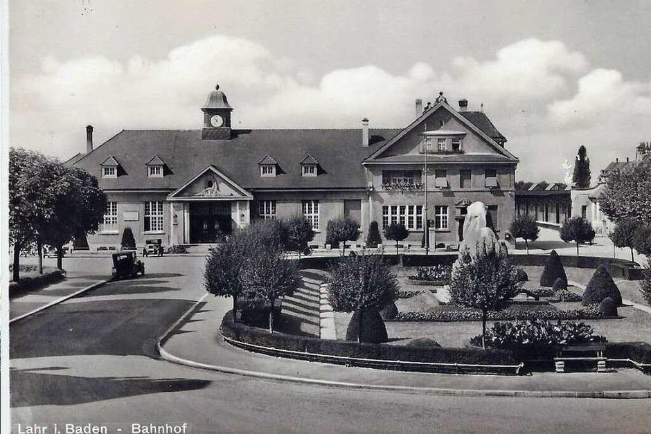 Der Lahrer Stadtbahnhof  1942 (Foto: Manfred Eble )