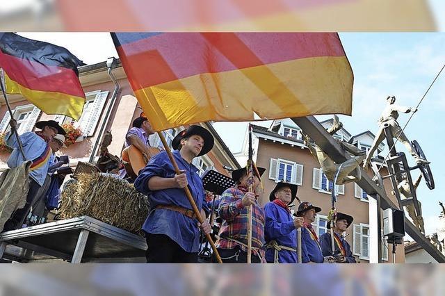 Loblieder singen auf die Freiheitskämpfer