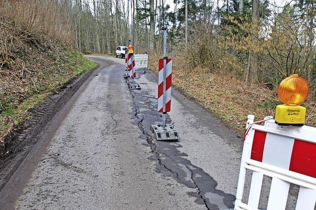 Bewegtes Gelände verursacht Schäden