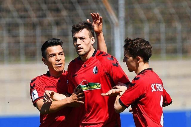 Die Reserve des SC Freiburg surft auf der Erfolgswelle
