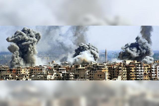 Raketen auf Assads Luftwaffenbasis
