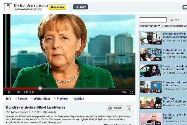 Verstößt Merkels Video-Podcast gegen das Verbot von Staatsrundfunk?