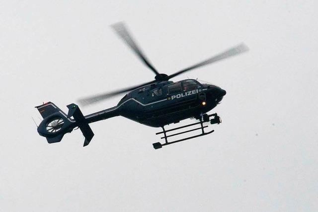Hubschraubereinsatz und Unterbrechung des Bahnverkehrs wegen Suche nach psychisch labilem Mann