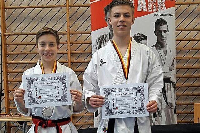 Karate-Brüder werden Zweite