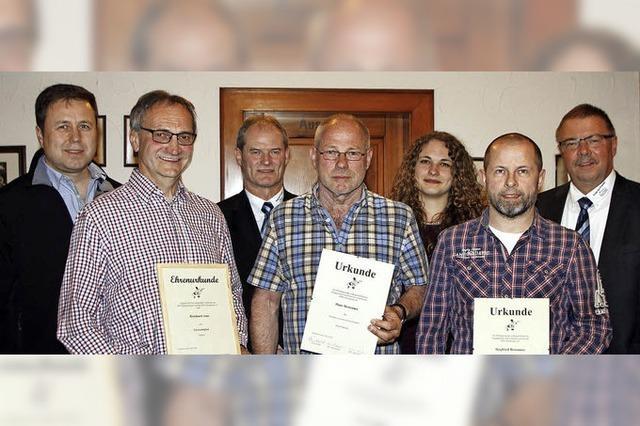 Treue Mitglieder im RSV Schuttertal